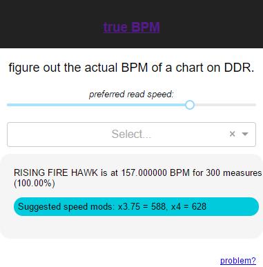 true BPM: Find Your Best Speed Mod – DDRCommunity