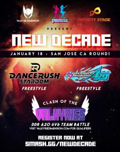 New Decade – DDR/DRS Freestyle & Clash of the Valkyries Results