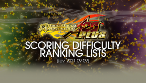 DDR A20 PLUS Scoring Difficulty Ranking List